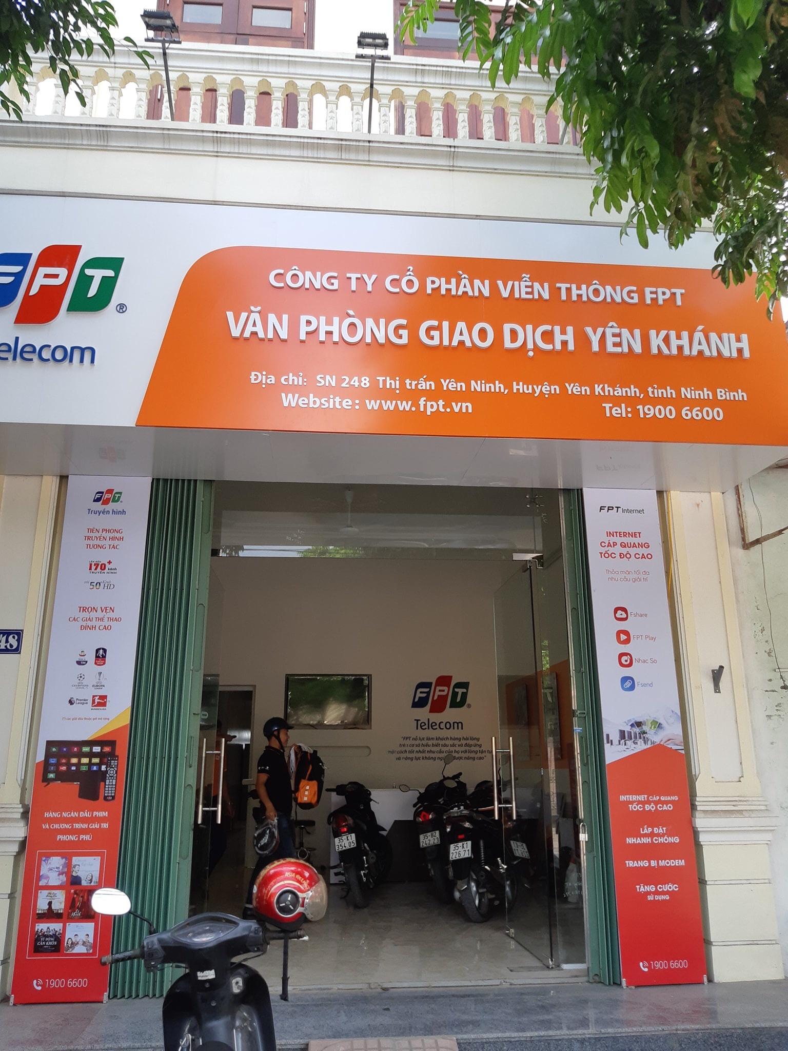 Đăng ký Lắp đặt cáp quang FPT Yên Khánh - FPT Telecom Ninh Bình